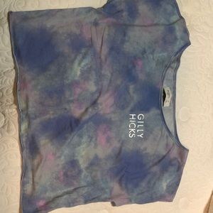 Woman's tye dye off the shoulder shirt